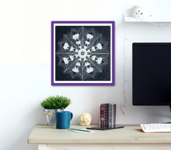 black star mandala in room for web