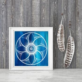 blue flower image on shelf for web